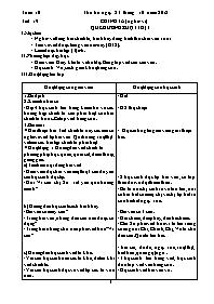 Giáo án Chính tả Lớp 3 - Tuần 10 - Năm học 20