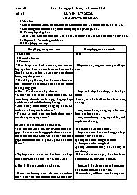 Giáo án Luyện từ và câu Lớp 3 - Tuần 10: So s