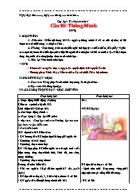 Giáo án Tập đọc Lớp 3 - Học kì I