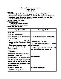 Giáo án Tập đọc Lớp 3 - Tuần 10: Thư gửi bà -
