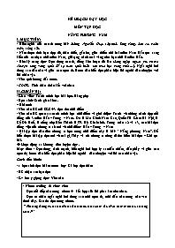 Kế hoạch dạy học Tập đọc Lớp 3 - Tuần 12: Nắn
